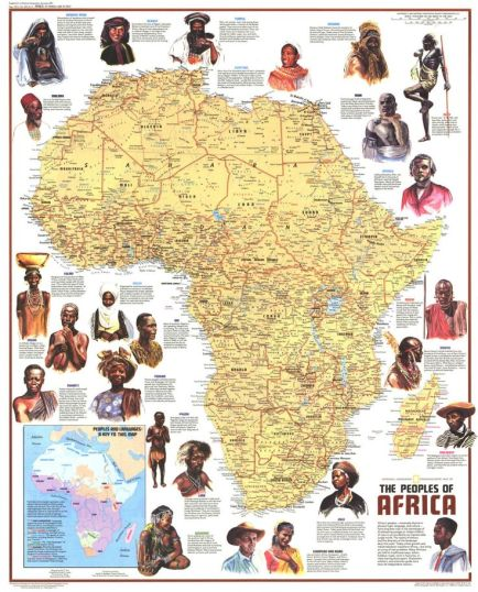 the peoples of africa map