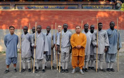 black shaolin staff fighters