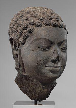 Head of a Buddha, second half of 6th century Angkor Borei, Cambodia