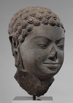 Head of a Buddha, second half of 6th century Angkor Borei, Cambodia