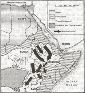 bantu expansion from Kush Aksum