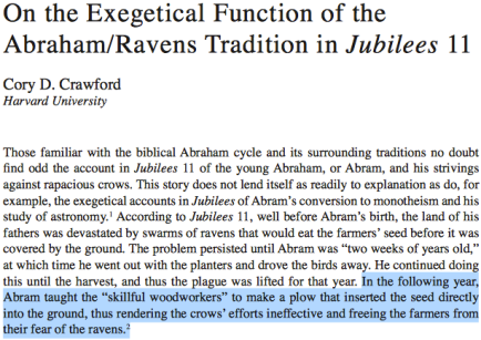 abraham invented plow ravens