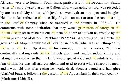 An African Indian Community in Hyderabad: Siddi Identity, Its Maintenance and Change, By Ababu Minda Yimene, PG 82