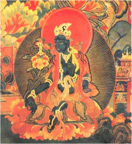 black buddha lotus position 2