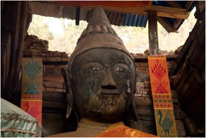 Tibetan Buddha with conical hat