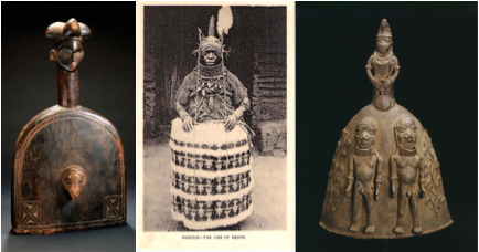 Buddhist bell nigerian oba bell shaped outfit