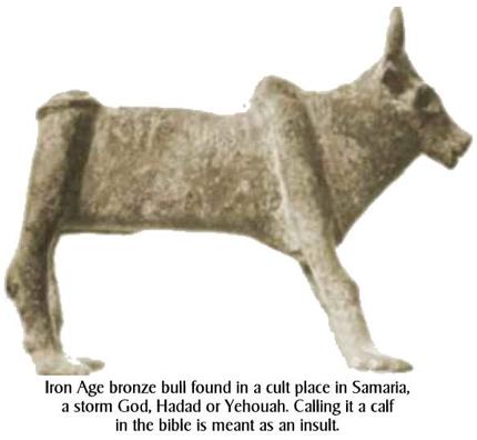 Samaria pagan bull worship