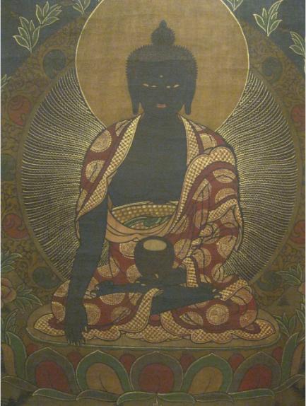 black negro buddha
