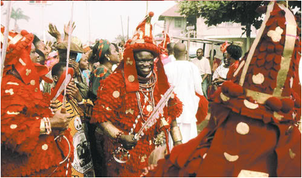oba of nigeria at igue festival