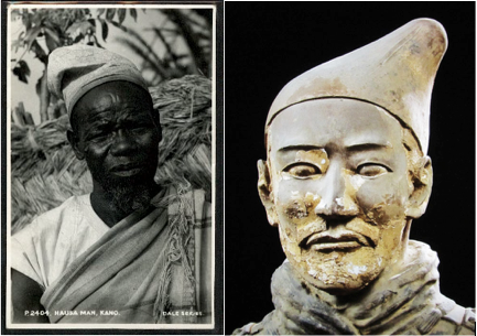 African vs Chinese Terracotta Tomb Soldier