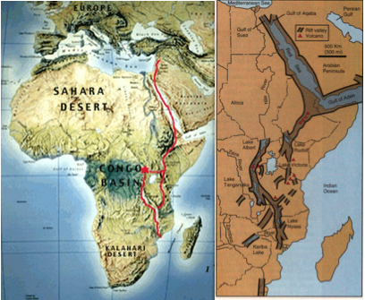Hebrew Israelite East African Rift Valley route