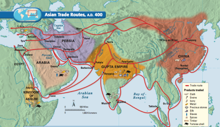 asian trade routes ad 400