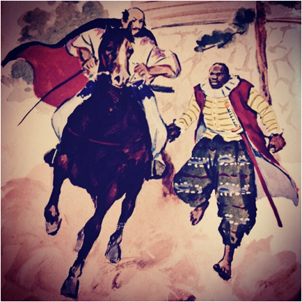nobunaga with yasuke black african samurai