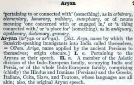 Aryan definition