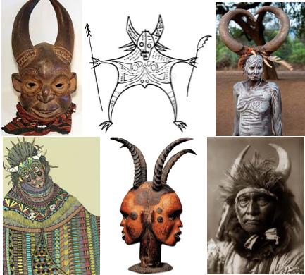 horned figures baal worship