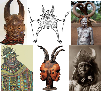 horned figures baal worship