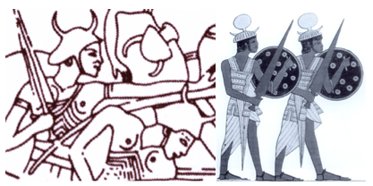 sea people horned helmets vikings