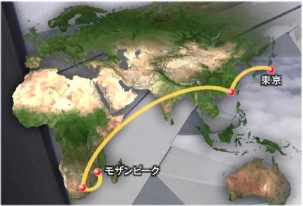 east africa to far east travel route