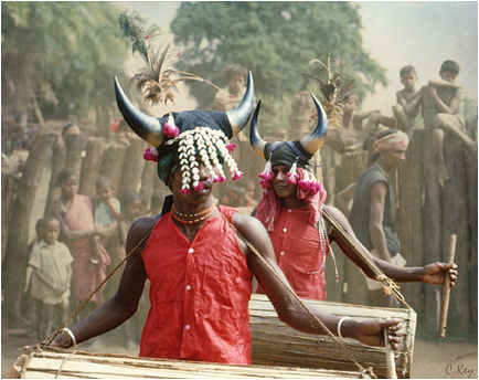 Bison-Horn Headdress of the Maria Tribe, Chattisgarh, India
