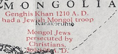 genghis khan 1210 ad had a jewish mongol troop