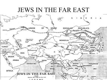 Jews in the Far East Silk Road Map