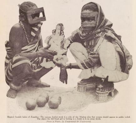 masked swahili ladies