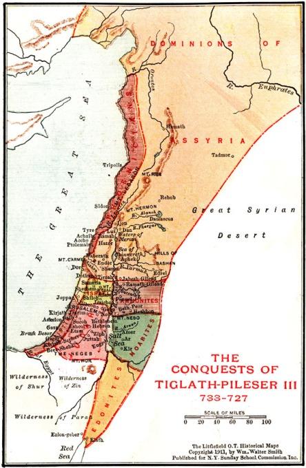 tiglath pileser iii conquest map