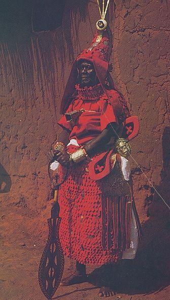 benin nigerian chief high rank scythian armor
