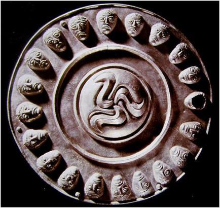 thracian triskele triskelion negro moors head
