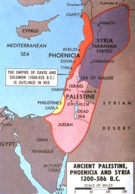 ancient palestine phoenicia and syria 1200 to 586 BC