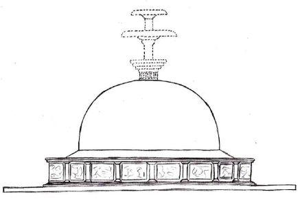 Kushan Stupa umbrella spiritual antenna