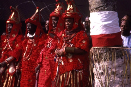 nigerian scythian chiefs red pangolin dress
