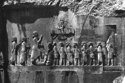 behistun rock carving darius 10 lost tribes of israel taken captive
