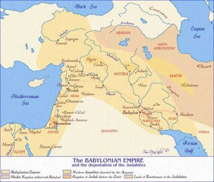 ancient babylonian empire map