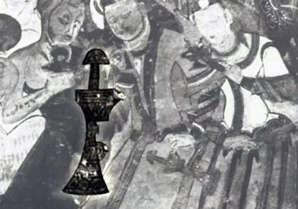 mogao cave buddhist monk scythian sword