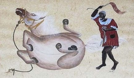 black mongol horse trainer