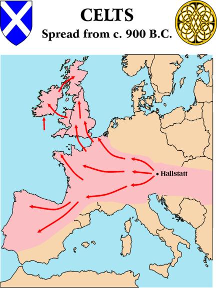 Celts Scythians Migration map