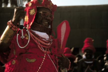 Chief Ima at Ugie Erhoba, Benin. Kathy Curnow, 1994.