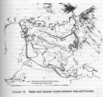 land and sea routes old world