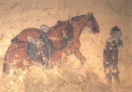black scythian ferghana horse