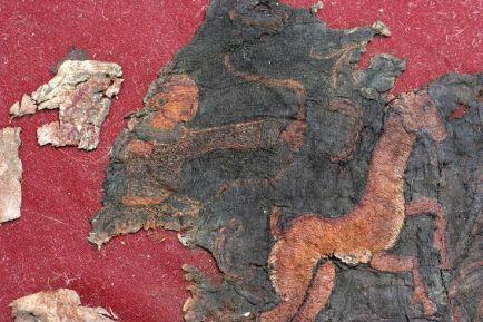 Noin-Ula burial site depiction of a Xiongnu Mongolian-Scythian archer