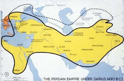 darius map 490 BC