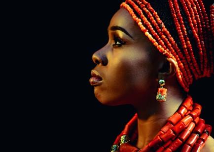 red coral yoruba woman