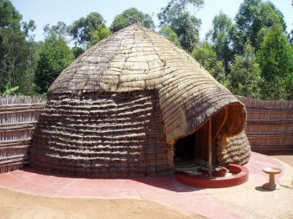 A West African palm hut