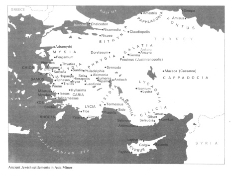 Ancient Israelites Jews settlements in asia minor