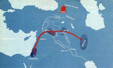 Assyrians Captivity map