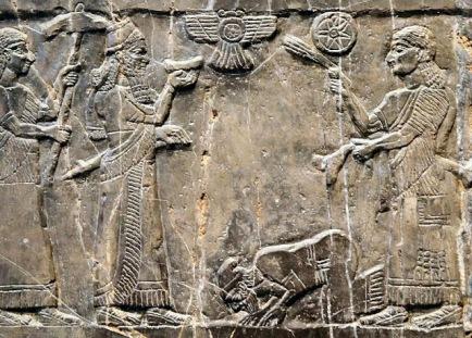 king jehu of israel bows to syrian assyrian king shalmaneser iii