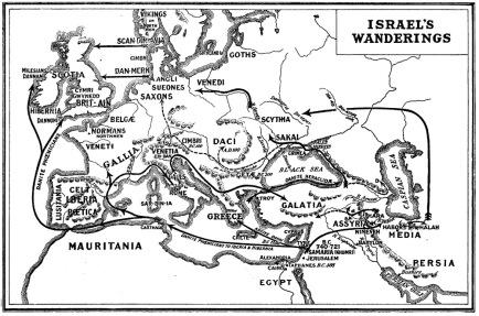 israelite wanderings map