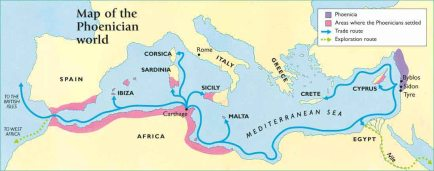 map of phoenician world