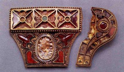 Golden Sword of northern Kazakhstan marked with the fleur-de-lis symbol